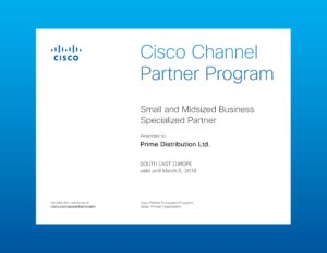 Cisco Channel Partner Program Certificate 2