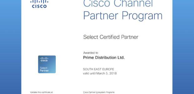 Tweet Tweet На 5-ти март 2017 година, Прайм Дистрибюшън ЕООД, съответно и computer-store.bg като част от нея, получи официален партньорски статут от Cisco System. Това се случи след изпълнени множество […]